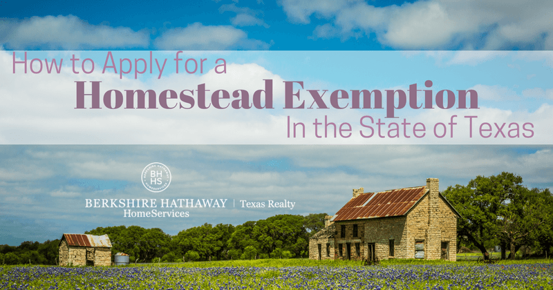 how to apply for a homestead exemption in the state of texas